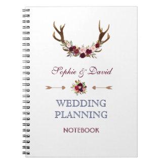 Bröllopsfixaren för Marsala blom- horn på Anteckningsbok
