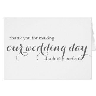 Bröllopsfixarentackkort OBS Kort