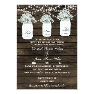 Bröllopsinbjudningar för burk för Barnwood 12,7 X 17,8 Cm Inbjudningskort