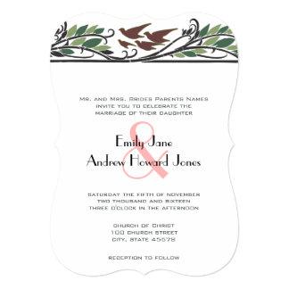 Bröllopsinbjudningar för fågel för art 12,7 x 17,8 cm inbjudningskort