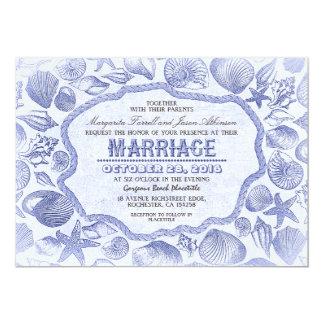 bröllopsinbjudningar för strand för blåttsnäckskal 12,7 x 17,8 cm inbjudningskort