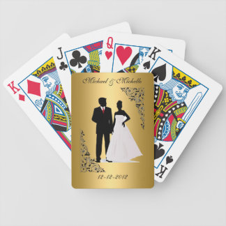 Bröllopsouvenir som leker kort, tillfogar dina spelkort