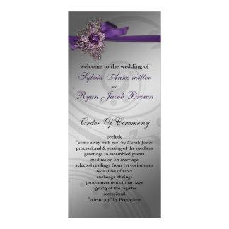 Bröllopsprogram för FAUXbandlilor Rackkort Mallar