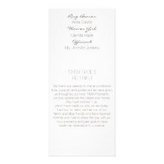 Bröllopsprogram för lagrarlövguld reklamkort