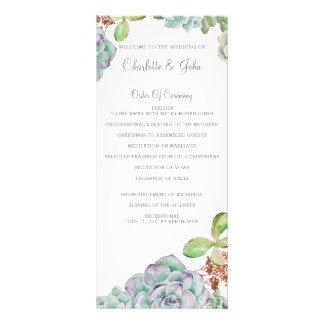 Bröllopsprogram för ökenkaktussuckulenter anpassningsbara rackkort