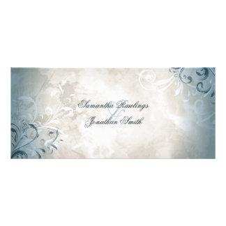 Bröllopsprogrammet - elegant vintagelövverk & anpassade ställkort