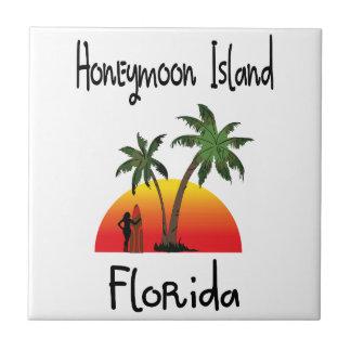 Bröllopsresaö Florida. Kakelplatta
