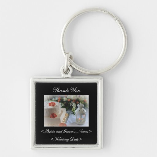 Bröllopstårta och lykta nyckel ring