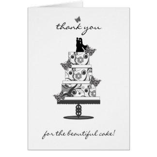 bröllopstårtan tackar dig att card - tacka dig för