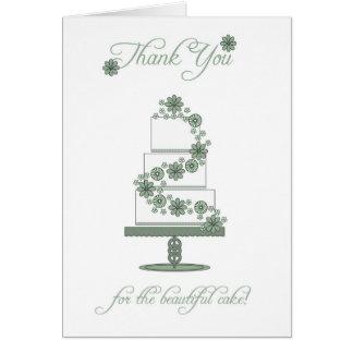 bröllopstårtan tackar dig att card - tacka dig för hälsningskort