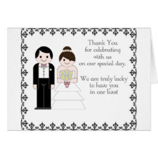 Brölloptack Hälsningskort