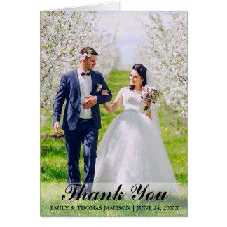 Brölloptackbruden & brudgumfotoet noterar kort L