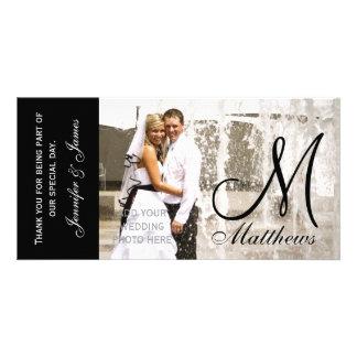 Brölloptackfotoet Cards mallen Fotokort