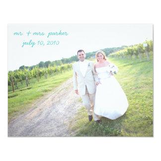 Brölloptackkort 10,8 X 14 Cm Inbjudningskort