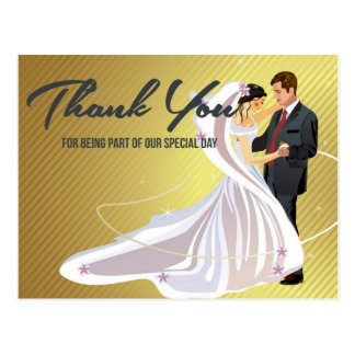 Brölloptackkort Vykort