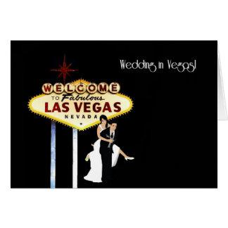 BröllopVegas brud & brudgumkort Hälsningskort