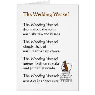 Bröllopvesslan - en rolig bröllopdikt hälsningskort