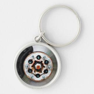 Bromsa jobbet - disketten bromsar för mekaniker rund silverfärgad nyckelring