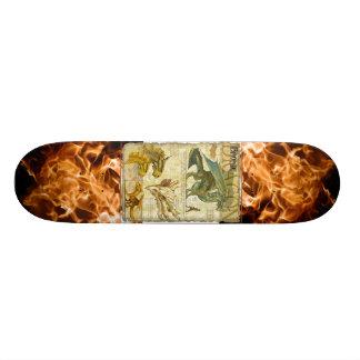 Brons draken stiger ombord old school skateboard bräda 18 cm