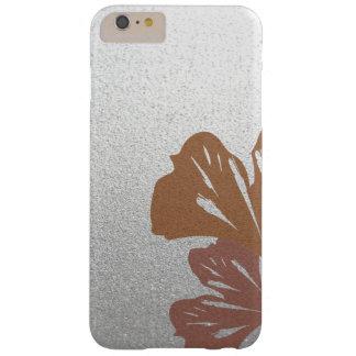 Brons ginkgoen som löv på silver verkställer barely there iPhone 6 plus fodral