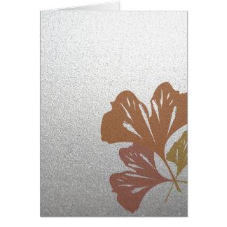 Brons ginkgoen som löv på silver verkställer OBS kort
