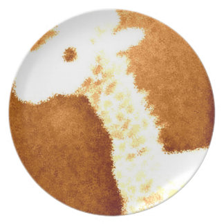 Brons giraffet tallrik