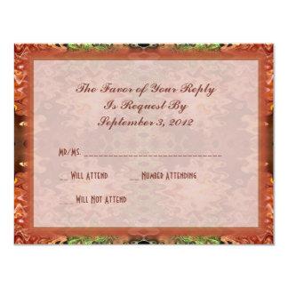 brons grönt bröllop 10,8 x 14 cm inbjudningskort