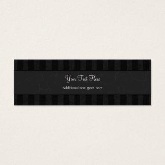 Brons på svart blom- testar, randar & Monogram Litet Visitkort