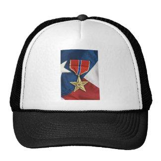 Brons stjärnan på amerikanska flaggan keps