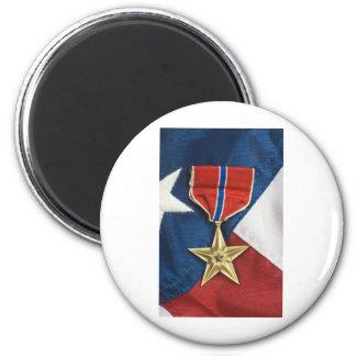 Brons stjärnan på amerikanska flaggan magneter