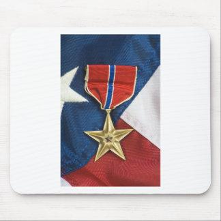 Brons stjärnan på amerikanska flaggan mus matta