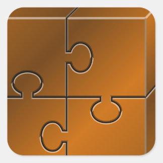 bronzepuzzle_Vector_Clipart Fyrkantigt Klistermärke