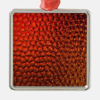 Bronzfärgat lutningexponeringsglas julgransprydnad metall