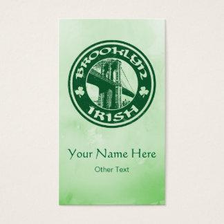 Brooklyn irländsk amerikan skräddarsy visitkortar visitkort