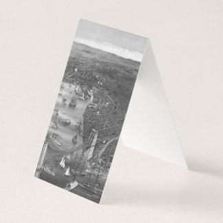 Brooklyn kartavisitkortar i svart & vit visitkort