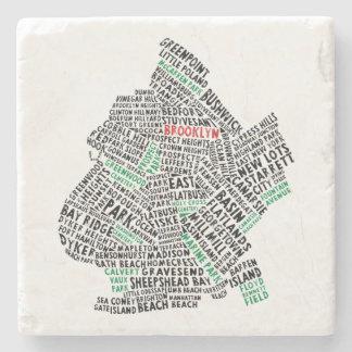 Brooklyn New York City typografikarta Stenunderlägg