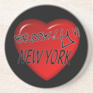 Brooklyn New York hjärtalogotyp Underlägg Sandsten