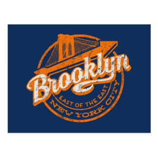 Brooklyn New York | Retro vintagetypografi Vykort