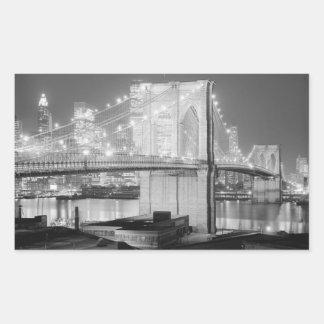 Brooklyn överbryggar, 1982 rektangulärt klistermärke