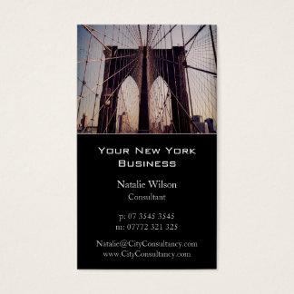 Brooklyn överbryggar, det New York fotoet - Visitkort