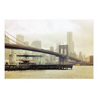 Brooklyn överbryggar karusell fototryck