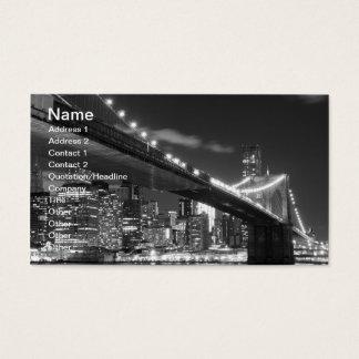 Brooklyn överbryggar och Manhattan horisont på Visitkort