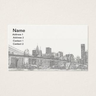 Brooklyn överbryggar och Manhattan horisont Visitkort
