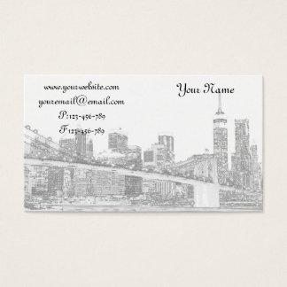 Brooklyn överbryggar på natten, New York City Visitkort