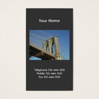 Brooklyn överbryggar visitkortar visitkort