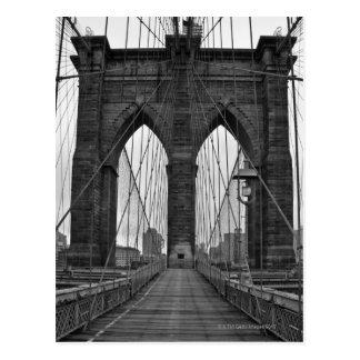 Brooklynen överbryggar i New York City Vykort