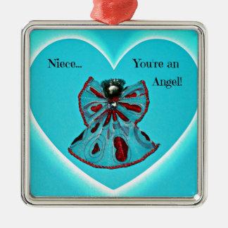 Brorsdottern är du en ängel! julgransprydnad metall
