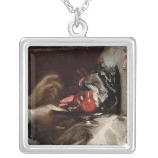 Broschen av Infantamargaritan Maria Silverpläterat Halsband