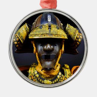 bröst för samuraikostymhjälmen pläterar gammalt julgransprydnad metall
