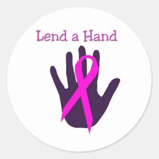 Bröstcancer - låna en räcka runt klistermärke